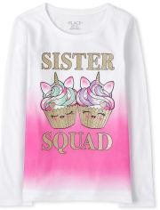 Girls Sister Squad Graphic Tee