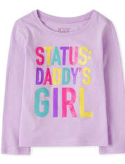 Baby And Toddler Girls Daddy's Girl Graphic Tee