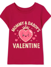 Baby And Toddler Girls My Heart Graphic Tee