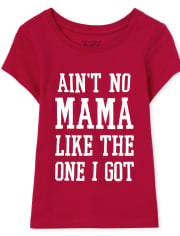 Baby And Toddler Girls Matching Family Mama Graphic Tee