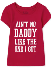 Baby And Toddler Girls Matching Family Daddy Graphic Tee