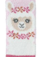 Girls Llama Cozy Socks 2-Pack