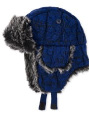 Boys Cable Knit Trapper Hat