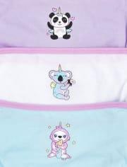 Toddler Girls Crittercorn Briefs 7-Pack