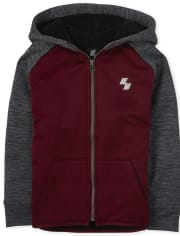 Boys Active Performance Zip Up Hoodie