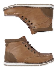 Boys Lace Up Moccasin Boots