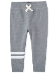 Baby And Toddler Boys Striped Fleece Jogger Pants