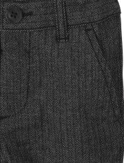 Toddler Boys Herringbone Skinny Dress Pants