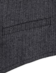 Toddler Boys Herringbone Dressy Vest