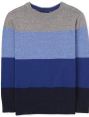Boys Colorblock Sweater