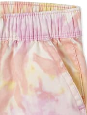 Baby And Toddler Girls Tie Dye Pull On Beach Pants