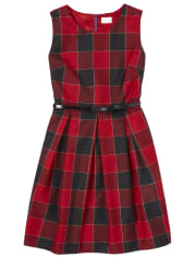 Womens Mommy And Me Buffalo Plaid Matching Fit And Flare Dress