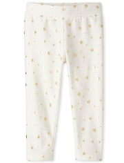 Baby And Toddler Girls Foil Cozy Leggings