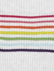 Vestido niña jersey rayas arcoíris