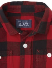 Toddler Boys Buffalo Plaid Flannel Button Down Shirt