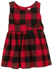 Toddler Girls Matching Family Buffalo Plaid Fit And Flare Dress