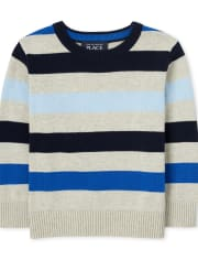 Toddler Boys Striped Sweater