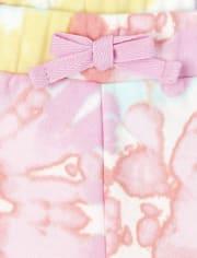 Toddler Girls Unicorn Tie Dye Outfit Set
