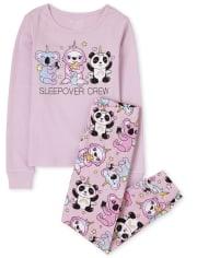 Girls Sleepover Crew Snug Fit Cotton Pajamas