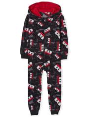 Boys Ninja Fleece One Piece Pajamas