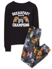 Boys Breakfast Snug Fit Cotton Pajamas
