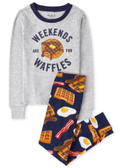Boys Breakfast Snug Fit Cotton Pajamas
