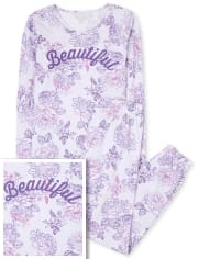 Hermoso pijama de algodón a juego para mamá y yo para mujer