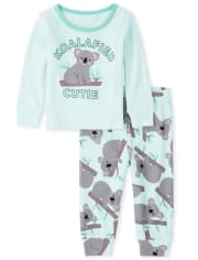Baby And Toddler Girls Koala Snug Fit Cotton Pajamas