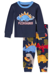 Pijama de algodón con ajuste ceñido Pizzasaurus para bebés y niños pequeños