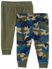 Baby Boys Camo Pants 2-Pack