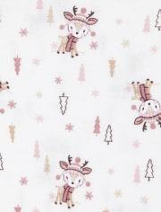 Baby Girls Fairisle Deer Bodysuit 4-Pack