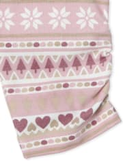 Baby Girls Fairisle Pants 2-Pack