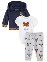 Baby Boys Stay Tiger 3-Piece Playwear Set