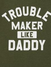 Pack de 4 body para bebé niño Trouble Maker