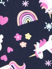 Paquete de 2 leggings de unicornio arcoíris para niñas pequeñas