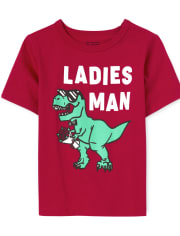 Baby And Toddler Boys Ladies Man Graphic Tee