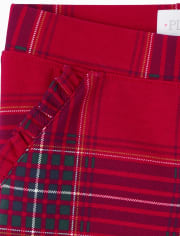 Girls Tartan Ponte Knit Pull On Jeggings