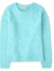 Girls Eyelash Sweater