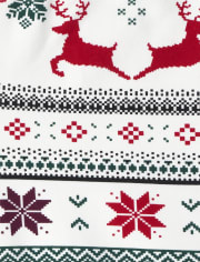 Girls Christmas Fairisle Fleece Lined Cozy Leggings