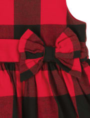 Baby Girls Matching Family Buffalo Plaid Fit And Flare Dress