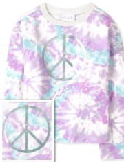 Girls Tie Dye Cozy Pullover