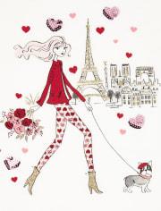 Girls Valentine's Day High Low Top