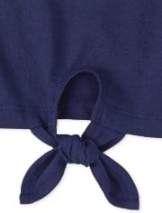 Girls Flip Sequin Tie Front Top