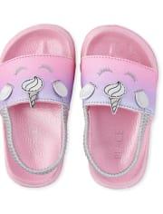 Toddler Girls Glitter Unicorn Slides