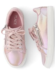 Girls Shimmer Zip Low Top Sneakers