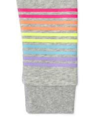 Sudadera niña con capucha y cremallera Rainbow Fleece