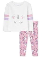 Toddler Girls Unicorn 2-Piece Set