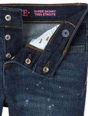Girls Paint Splatter Super Skinny Jeans