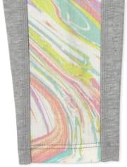Girls Side Stripe Pocket Hi-Rise Leggings