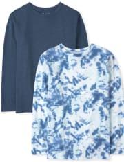 Boys Tie Dye Top 2-Pack